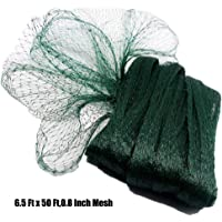 POYEE Bird Netting for Garden-6.5 x 50 Ft, 0.8 Inch Mesh, Nylon Garden Netting Protect Fruit and Vegetables from Birds and Animals, Green