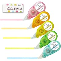 Plus marking tape Petit Moji liner soft touch all five colors set + eraser