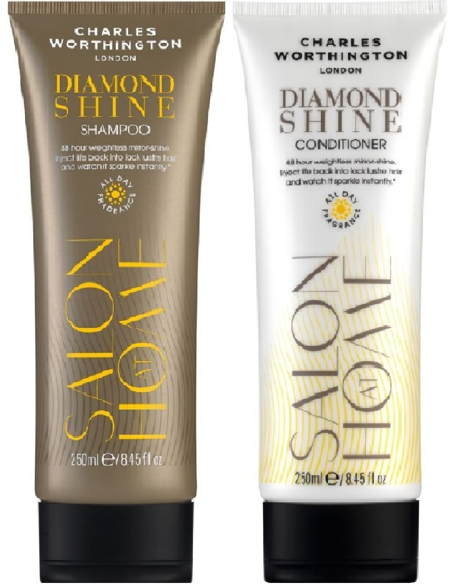 (2 Pack) Charles Worthington Diamond Shine Shampoo X 250 ml & Charles Worthington Diamond Shine Conditioner X 250 ml