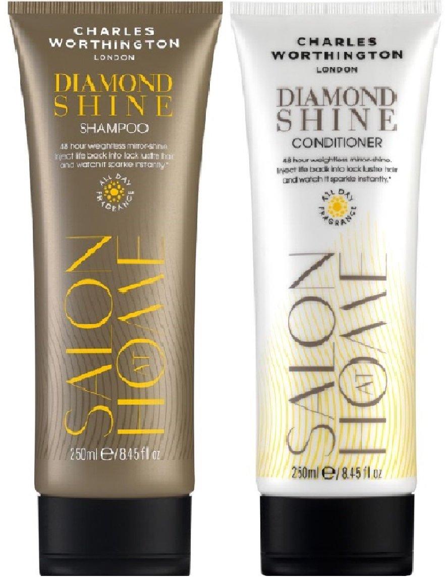 (2Pack) Charles Worthington Diamond Shine Shampoo X 250ml & Charles Worthington Diamond Shine Conditioner X 250ml