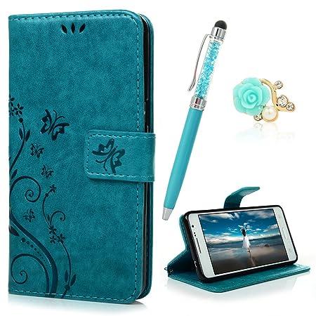 YOKIRIN Grand Prime G5308 G530 Wallet Case Schmetterling Flip Hülle Schutzhülle Zubehör PU Leder Handytasche Bookstyle Stand