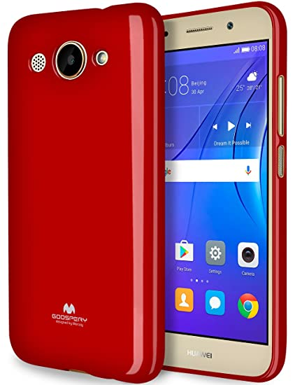 watch 27ee9 ed1e5 GOOSPERY Marlang Marlang Huawei Y3 2017 case - Red, Free Screen Protector  [Slim Fit] TPU Case [Flexible] Pearl Jelly [Protection] Bumper Cover for ...