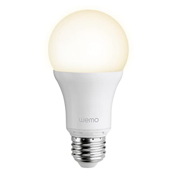 WeMo Smart LED Light Bulb, Wi Fi Enabled (Starter Set Required) (