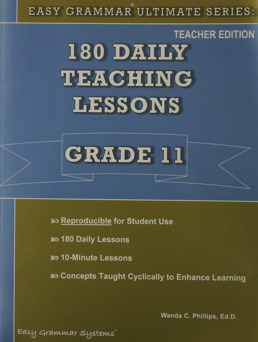 Easy Grammar Ultimate Series Teacher Book - Grade 11: Easy Grammer ...