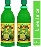 Lucy's 100% Lime Juice bottle, 32 oz. (Pack of 2)