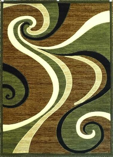 Modern Sage Green Rug 5 Feet 2 Inch X 7 Feet 3 Inch 144 Americana