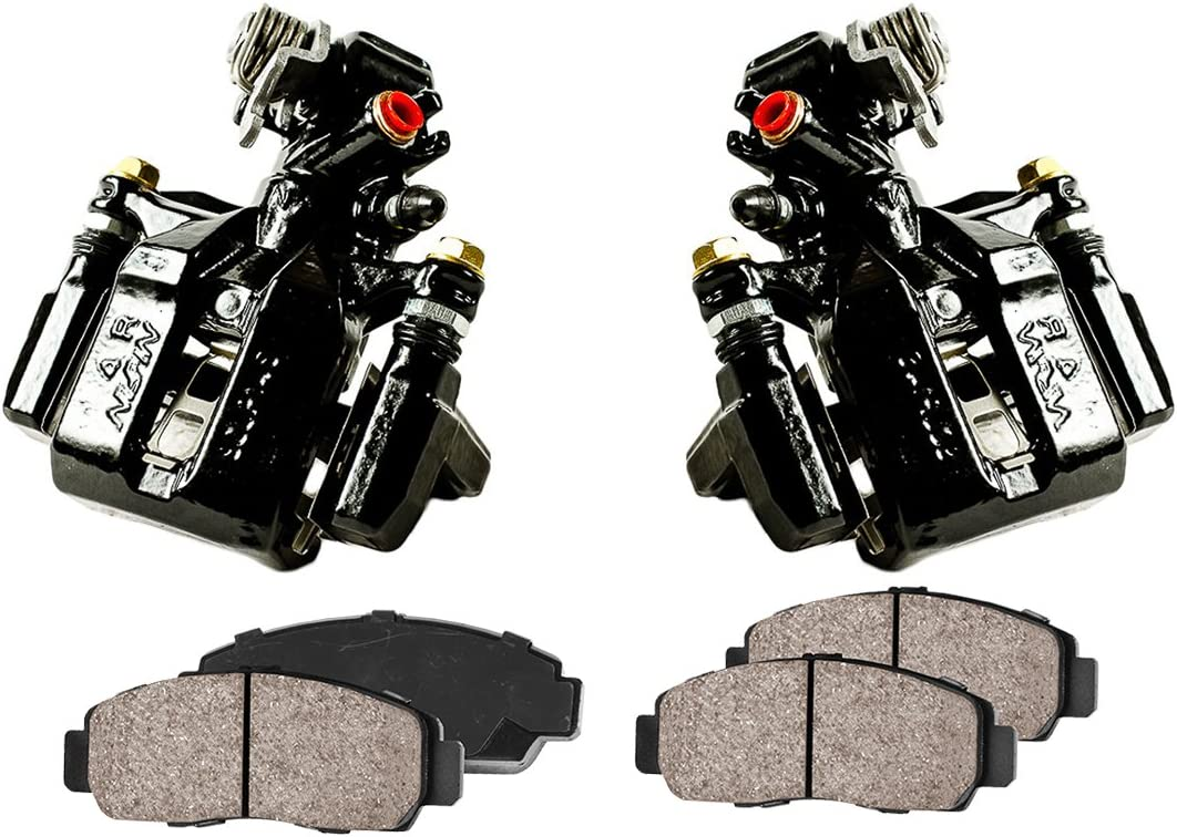 Low Dust Ceramic Brake Pads REAR Original Calipers + 2 4 CCK02557 OE Rotors + 2