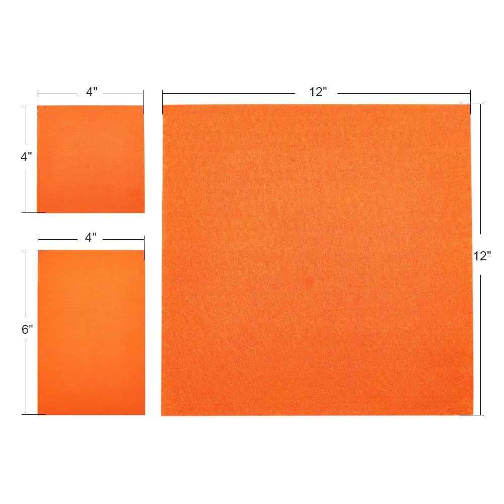 BENECREAT 120PCS 3 Tamano 6x4 //6x6//12x8 Hoja de Tela de Fieltro Suave Color Surtido Paquete de Fieltro DIY Artesania de Costura de Plazas Patchwork No Tejido
