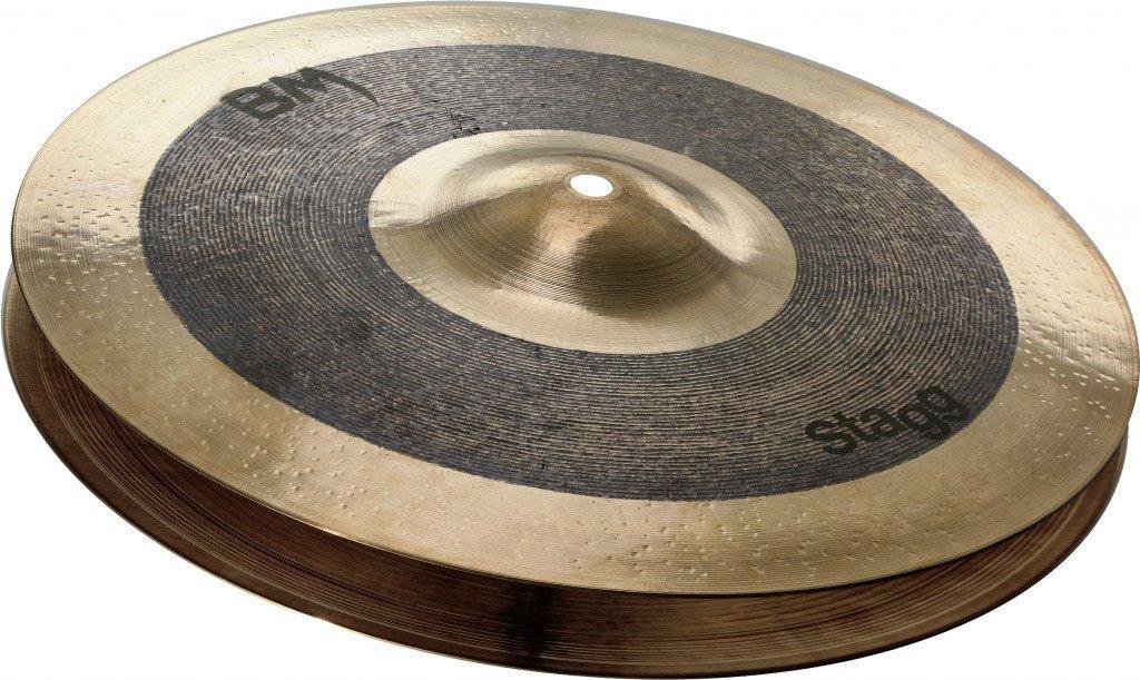 Stagg BM-HR13 13-Inch Black Metal Rock Hi-Hat Cymbals