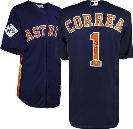 premium selection 5b7dd f517c Carlos Correa Houston Astros 2017 MLB World Series Champions ...