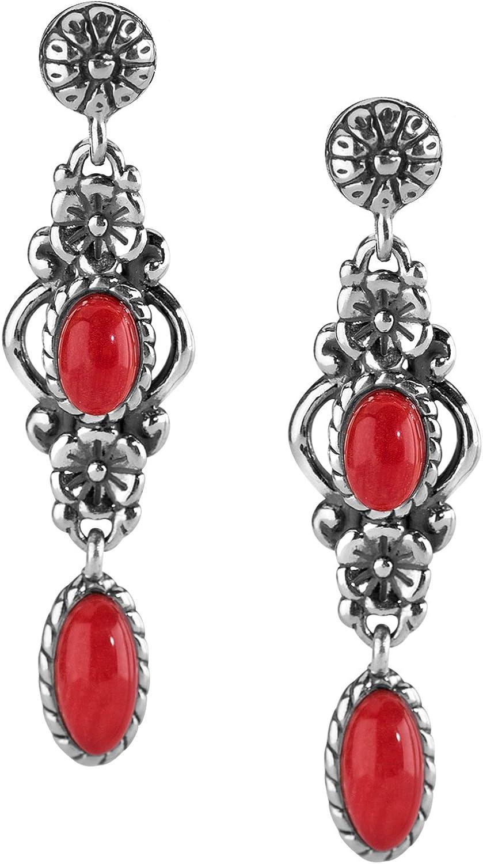 Red Coral Gemstone Earrings!