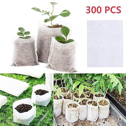 Amazon.com: MONDAY - Bolsas de cultivo de plantas, 300 ...