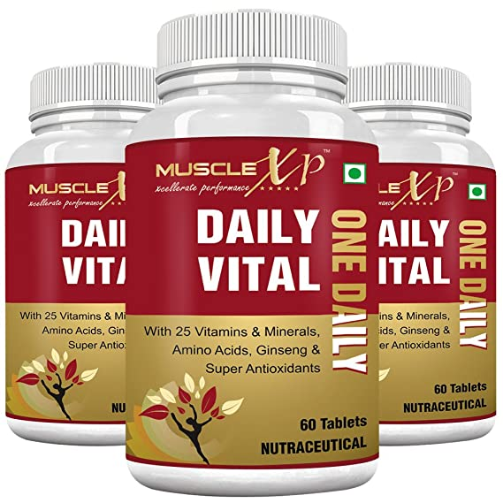 MuscleXP Daily Vital  One Daily  MultiVitamin   60 Tablets  Pack of 3
