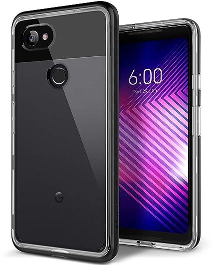 buy popular 18f9b 7fd43 Caseology Skyfall for Google Pixel 2 XL Case (2017) - Clear Back & Slim Fit  - Black