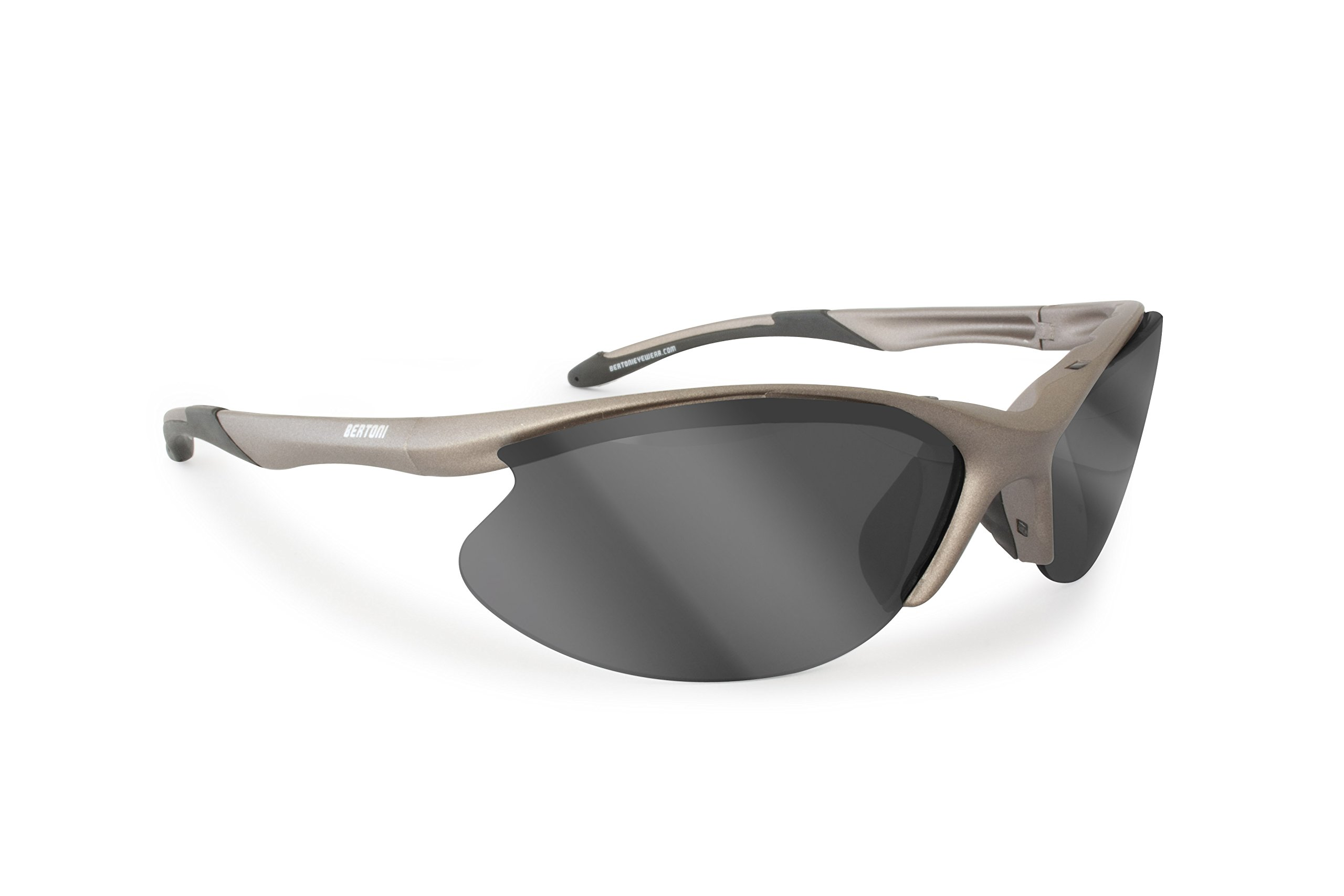 Bertoni Sport Sunglasses for cycling, golfing, running,3 lenses included D326A Italy