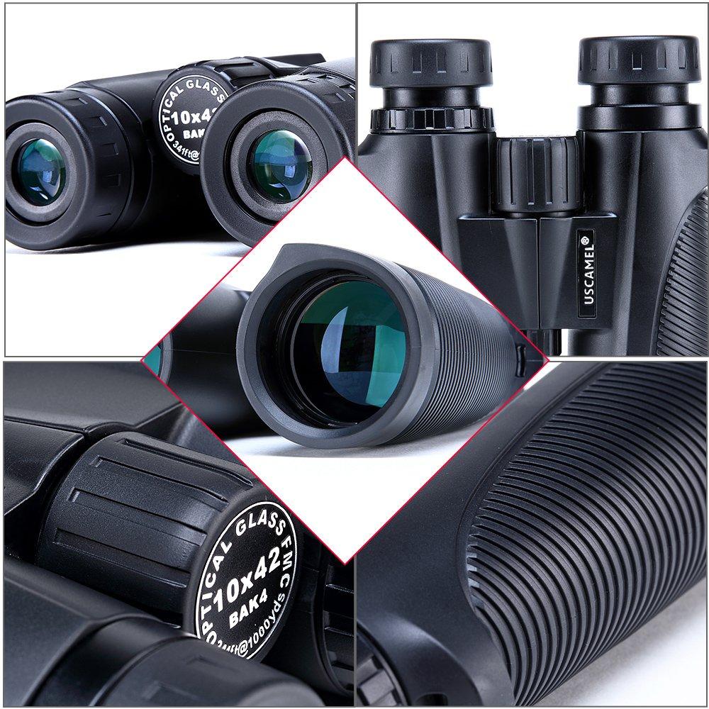 USCAMEL 8x42 Binoculars, Waterproof and Dustproof, Birdwatching and Outdoors Hunting, Black
