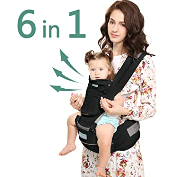 Windsleeping Portabebé con capucha para todas las estaciones,Mochila Porta Bebé Ergonómico apto para bebés, niños pequeños y recién nacidos - Negro