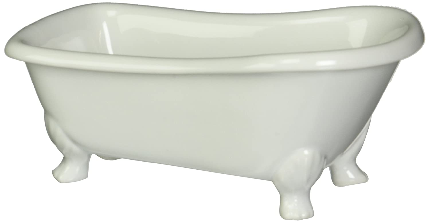 Kingston Brass BATUBW 7 Inch Length Ceramic Tub Miniature With Feet, White    Kitchen Sink Faucets   Amazon.com