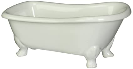 Kingston Brass BATUBW 7 Inch Length Ceramic Tub Miniature With Feet White