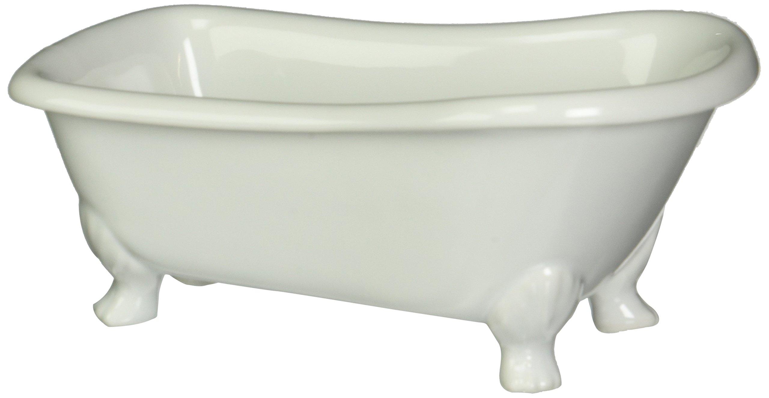 Kingston Brass BATUBW 7-Inch Length Ceramic Tub Miniature with Feet, White