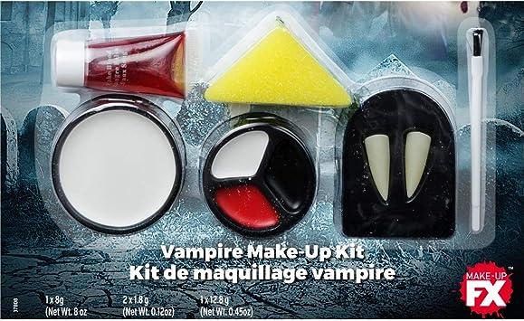 Amakando Set de Maquillaje Horror Dracula / Blanco-Rojo-Negro / Kit de cosméticos gótico Halloween Fiestas temáticas y Fiestas de Horror: Amazon.es: Juguetes y juegos