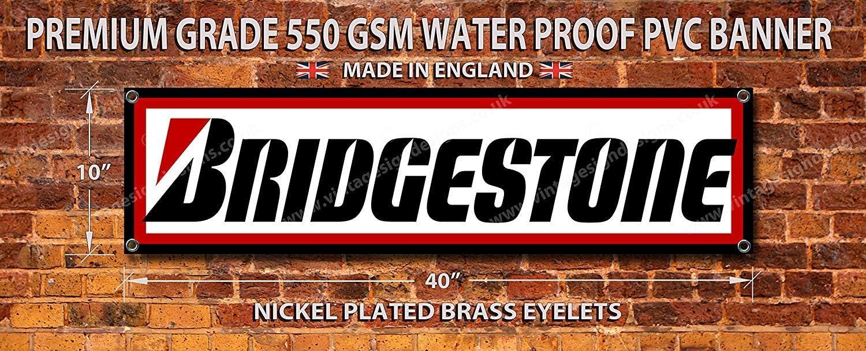Taller Banner Vintage Sign Designs Bridgestone Premium Calidad PVC Garage