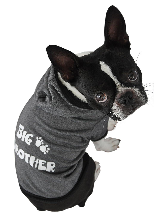 Ruff Ruff and Meow Extra-Small Dog Hoodie, Big Bredher, Black