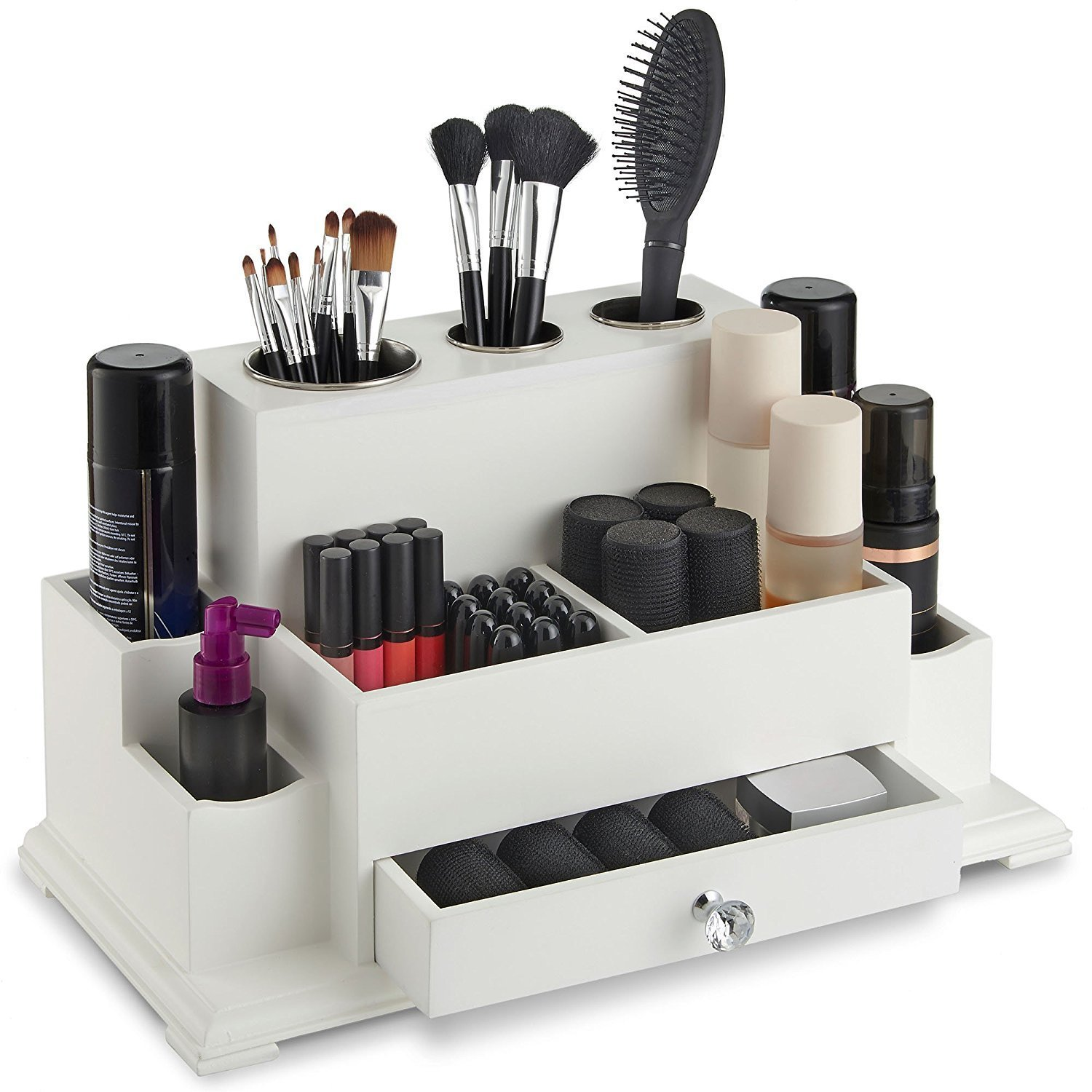 Brand New Hair & Beauty Storage Organiser Unit make up storage box make up jewellery keeper drawer cosmetics organiser (WHITE) UNKNOWN