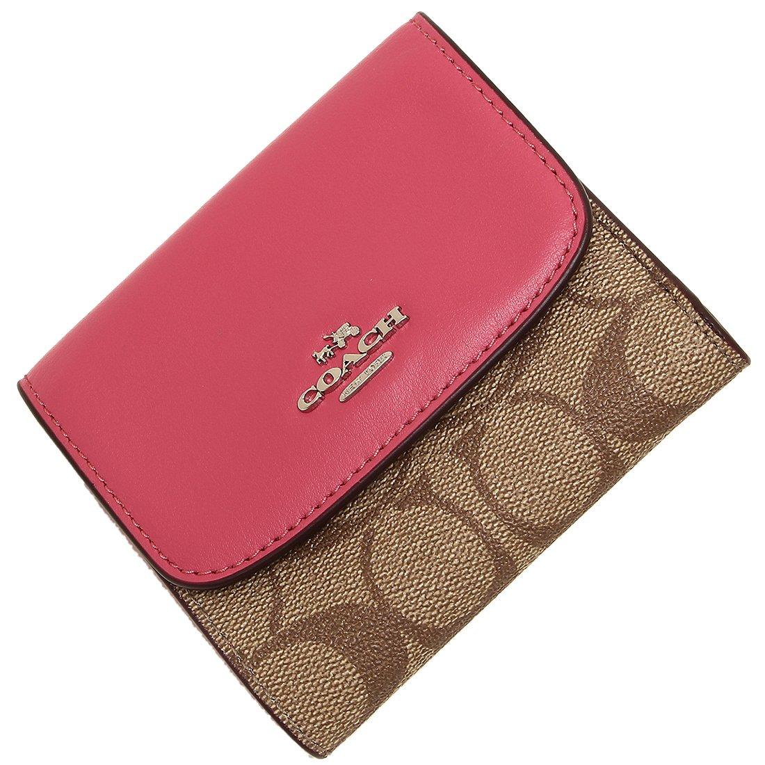 55be63eac661 Amazon | [コーチ] 三つ折り財布 アウトレット レディース COACH F87589 SKHMJ カーキ ピンク [並行輸入品] | 財布