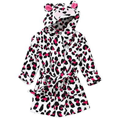 Animal Crazy Childs Boys Girls Leopard Print Bath Robe Dressing Gown  Supersoft Fleece  Amazon.co.uk  Clothing 97f4a2968