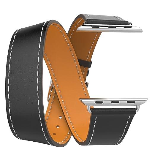 6 opinioni per MoKo Cinturino per Apple Watch 38mm, Braccialetto Lusso Morbido di Giro Doppio