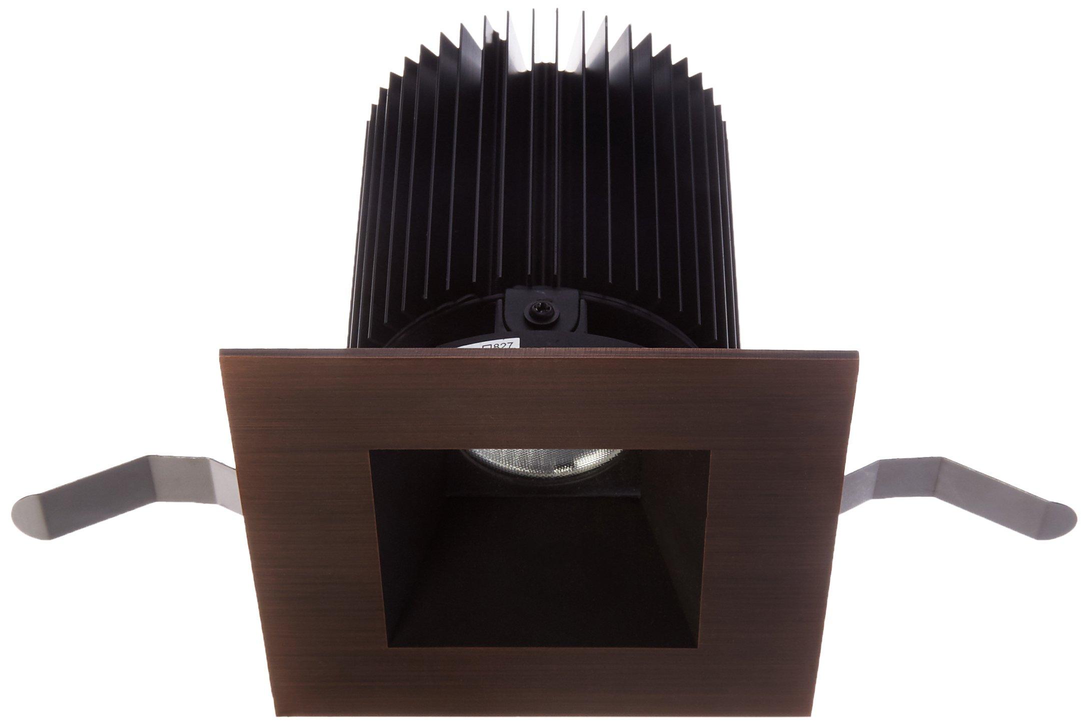 WAC Lighting HR-3LED-T818N-W-CB Tesla LED 3-Inch Square Shower Trim, 28-Degree Angle, 3000K