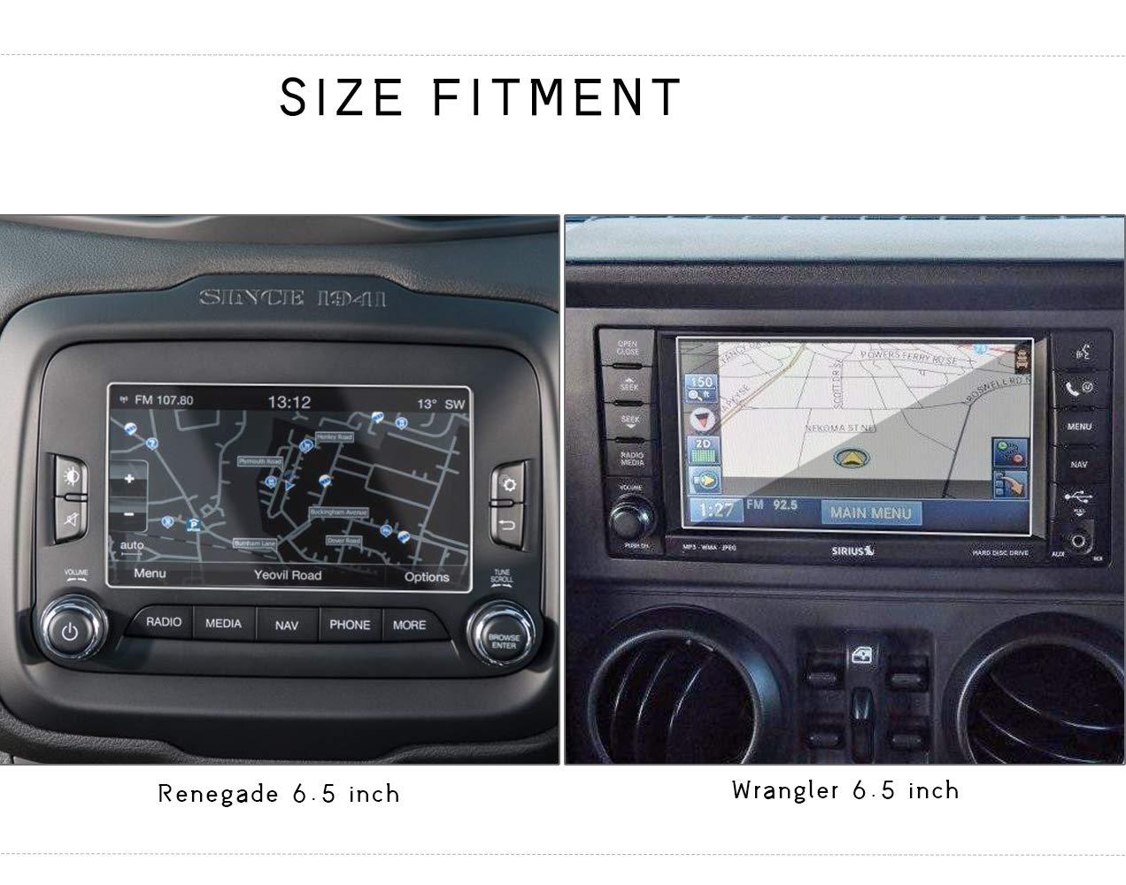 9H Proteggi Trasparente LITTOU 6.5 Inch Antigraffio Proteggi Schermo in Vetro Temperato per Renegade Wrangler Sistema di Navigazione GPS