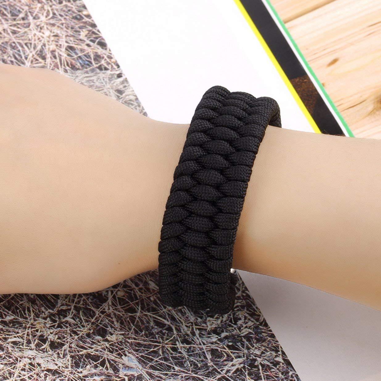 Sairis Outdoor Camping Survival Armband Weave Handmade 7-Stand Edelstahl Sch/äkel Schnalle Self-Rescue Survival Tools Kits