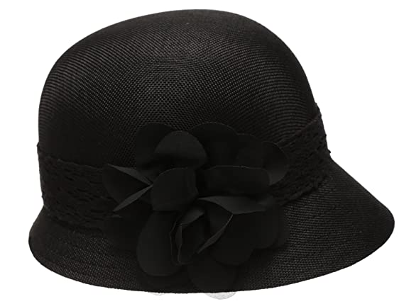 Epoch Women s Gatsby Linen Cloche Hat With Lace Band and Flower - Black at  Amazon Women s Clothing store  d938e31c7c9d