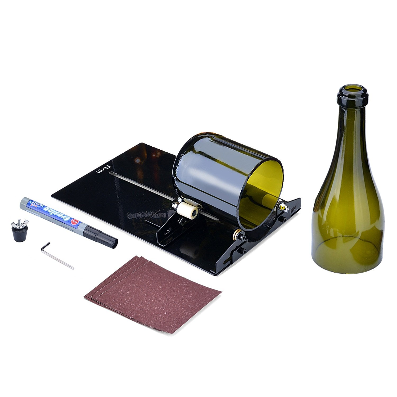 Glass Bottle Cutter Tool, Fixm New Version Glass Bottle Cutter DIY Cutting Machine Wine and Beer drinking glass round Bottles Cutting Tool 4336850045
