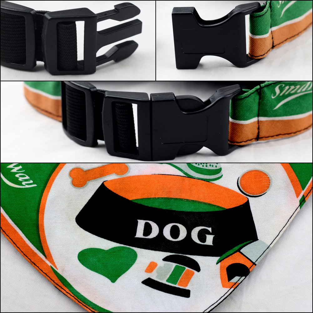 SW Dog Bandana Pet Scarf Neckerchief Collar Adjustable Pet Fashion Accessory for Medium Large Cats Accessories Dress