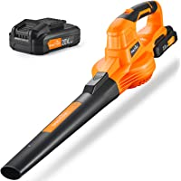 Leaf Blower -20V Cordless Leaf Blower with Battery & Charger, Electric Leaf Blower for Yard Cleaning, Lightweight Leaf…