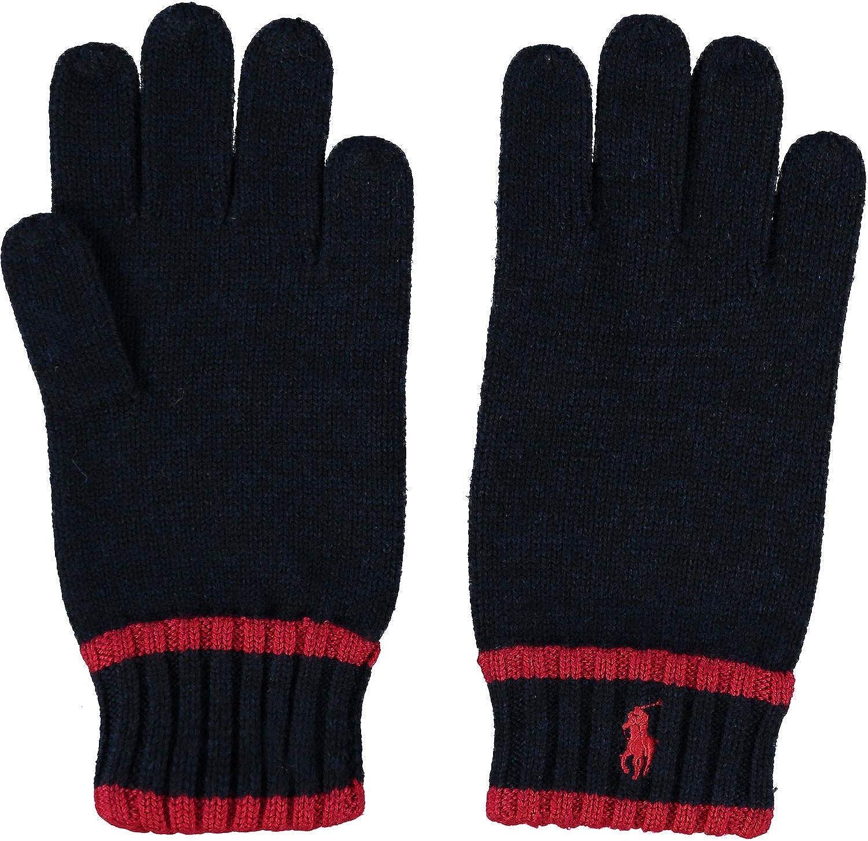 Polo Ralph Lauren - Guantes de lana de merino para niños Azul azul ...