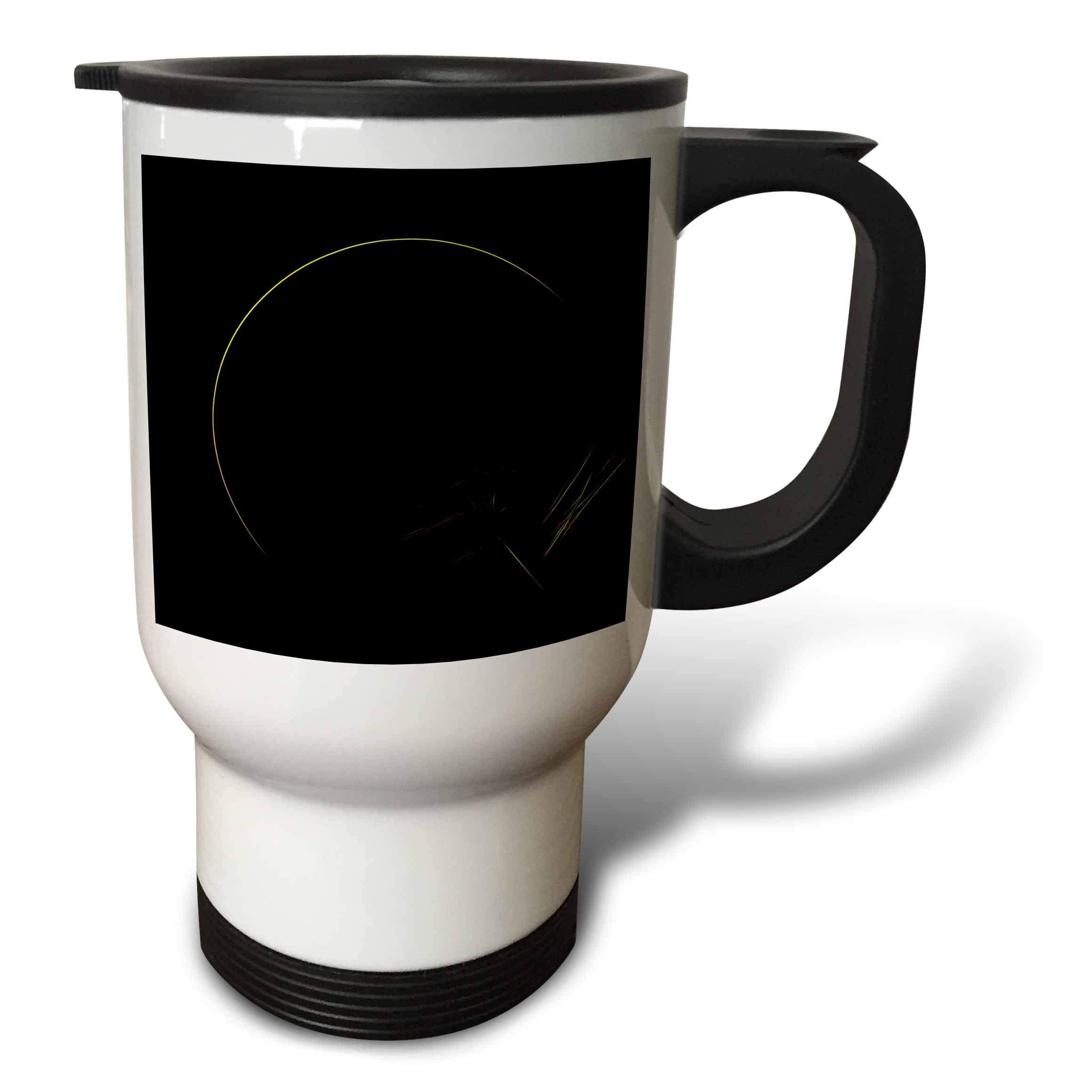 3dRose Digital Art by Brandi - Eclipse - Fractal abstract of a solar eclipse - 14oz Stainless Steel Travel Mug (tm_289203_1)