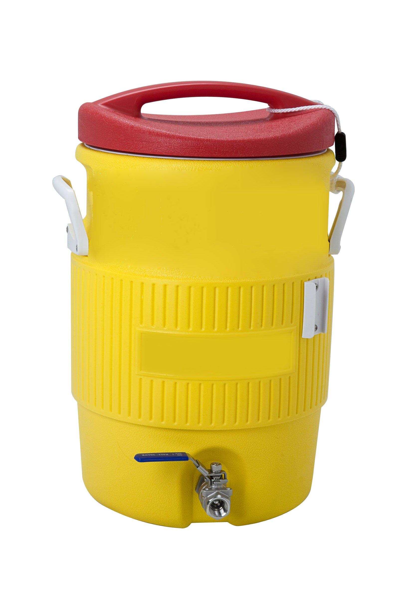 Polar Ware 4102MLT 10-Gallon Round Cooler, Yelloiw