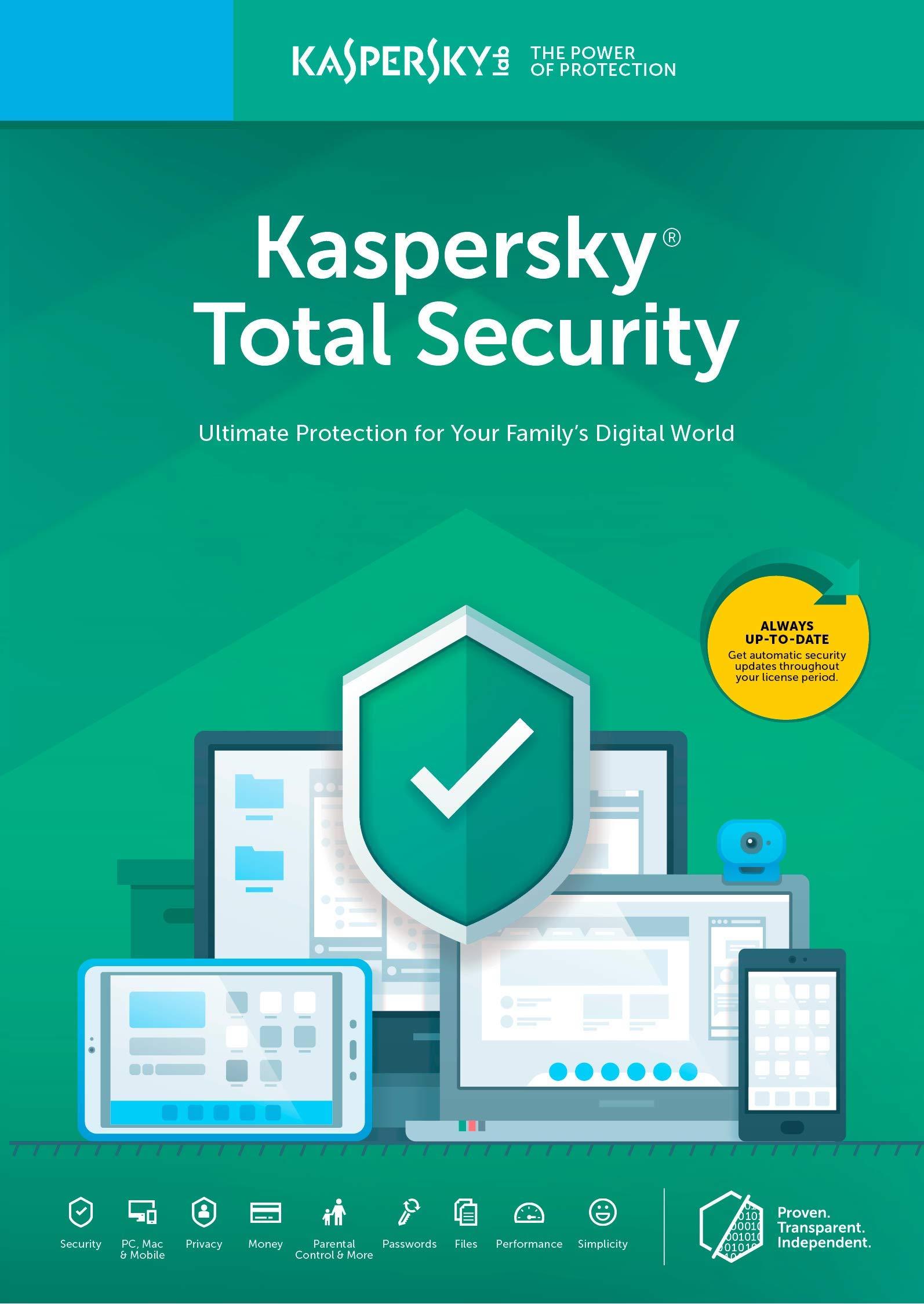 Kaspersky Total Security 2018 | 3 Device | 1 Year [Key Code] by Kaspersky