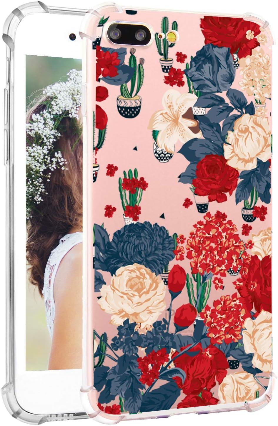 Amazon Com Floral Iphone 7 Plus Case Vintage Flowers Iphone 8