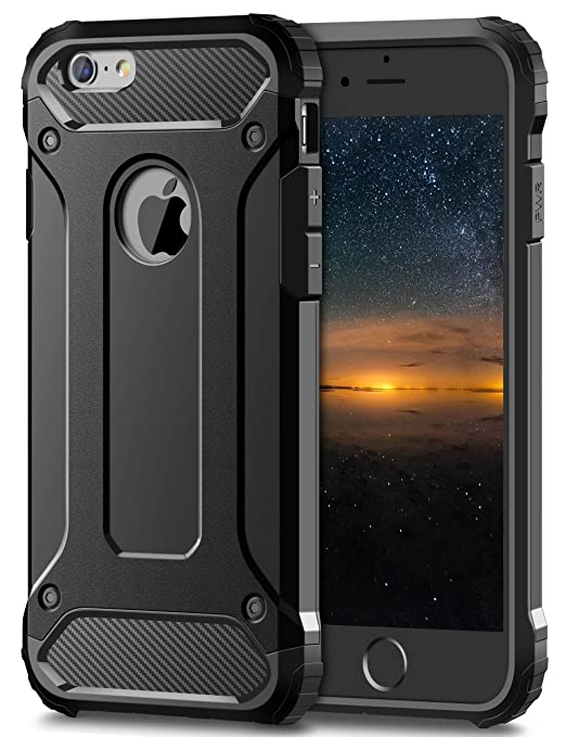 5 opinioni per iPhone 6S Plus Cover,Coolden® Shock-Absorption Hybrid Dual Layer Hard PC + Soft