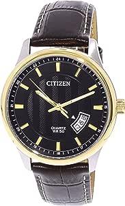 Citizen Men's BI1054-12E Silver Leather Japanese Quartz Fashion Watch