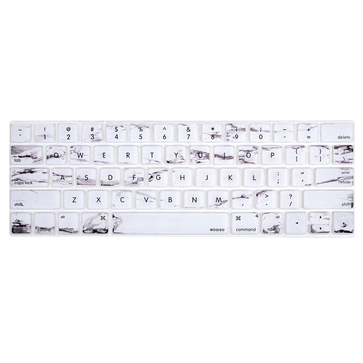 Mosisoキーボードカバーfor Touchバーモデル最新バージョンMacbook Pro FBA_MO-KC-NEW-MBP13-NTB-Marble B01N9H530Z ホワイトマーブル