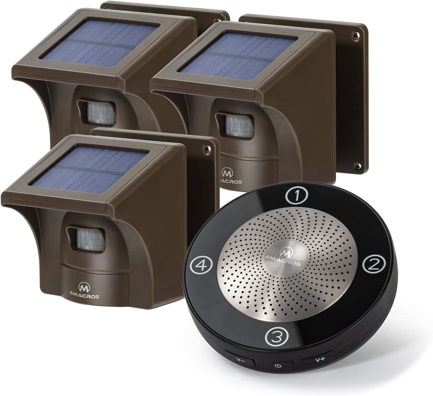 1/2 Mile Long Range Solar Wireless Driveway Alarm Outdoor Weather Resistant Motion Sensor & Detector-Security Alert System-Monitor & Protect Outside Property,No Need to Replace Battery