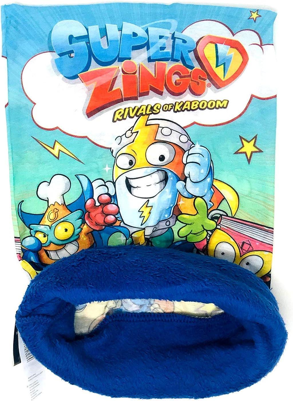 colore blu taglia unica scaldacollo multifunzione Rivals of Kaboom Superzings scaldacollo per bambini Superthings
