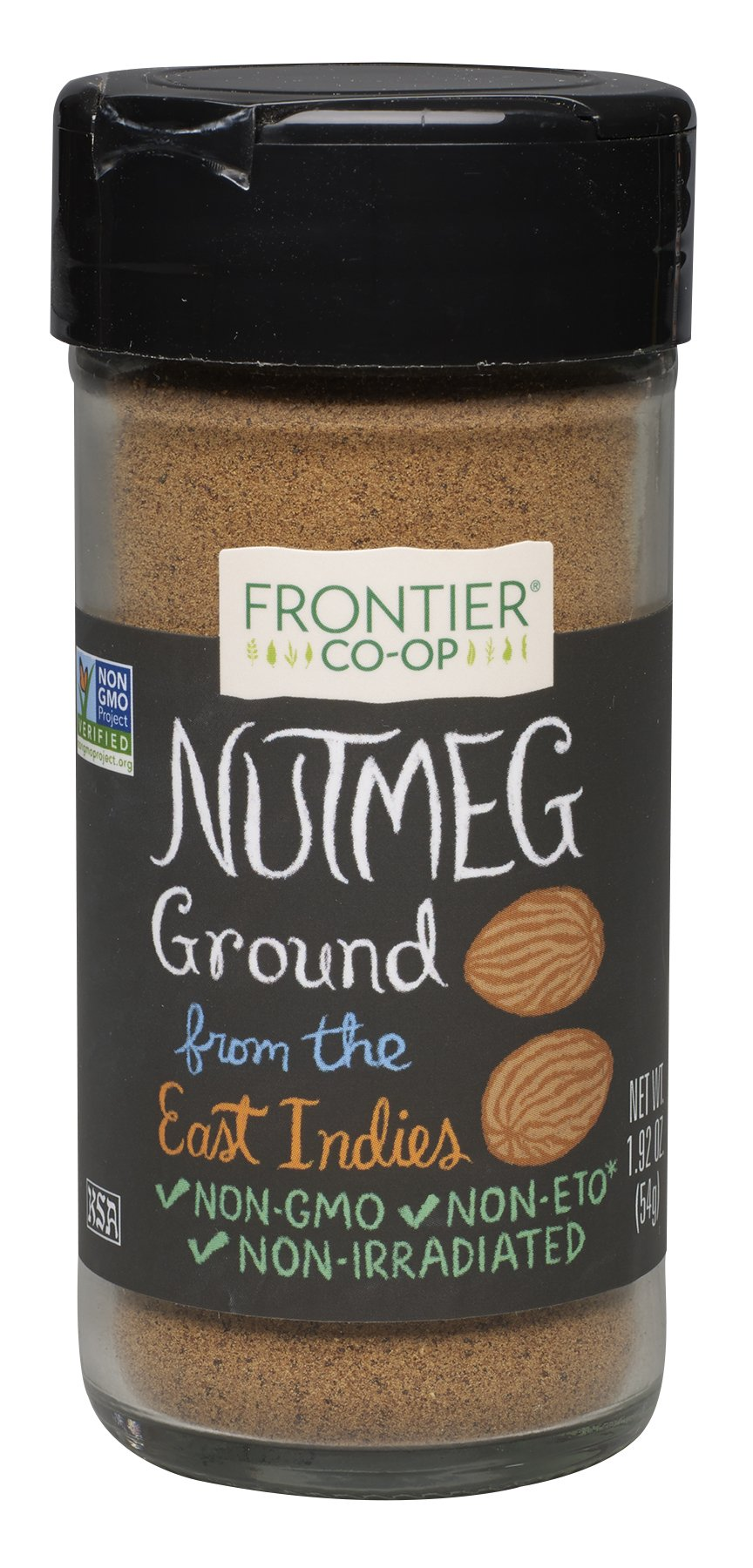 Frontier Culinary Spices Ground Nutmeg, 1.92-Ounce Bottles (Pack of 4)