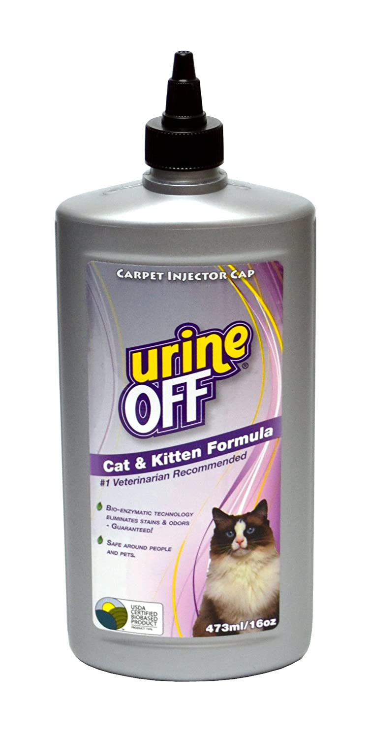 Urine Off Odor and Stain Remover for Cat and Kitten 16 Ounce Injector Cap